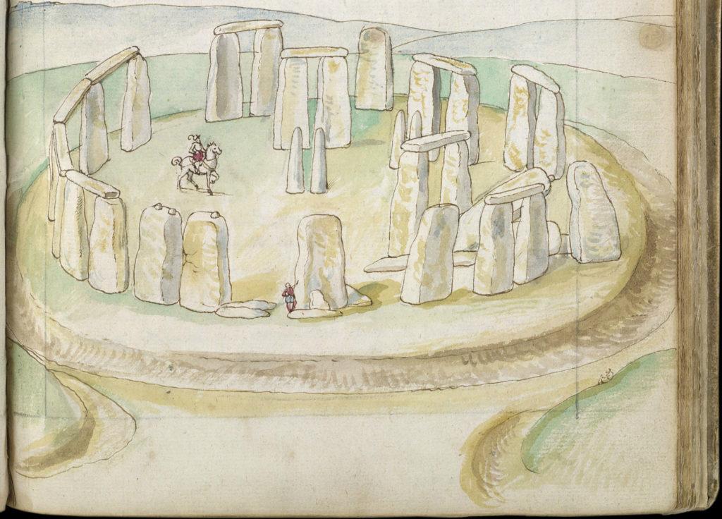 Stonehenge painting by Lucas de Heere